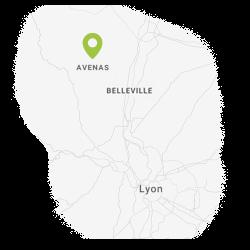 Map Lyon-Avenas